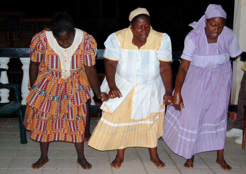Garifuna dancers in Dangriga, Belize