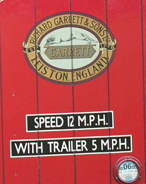 Richard Garrett & Sons - The Garrett Company logo detail on side of lorry cab