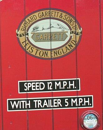 Richard Garrett & Sons - The Garrett Company logo detail on side of lorry cab