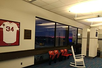 Logan International Airport - JetBlue Gate 34 is dedicated to David Ortiz, former designated hitter for the Boston Red Sox.