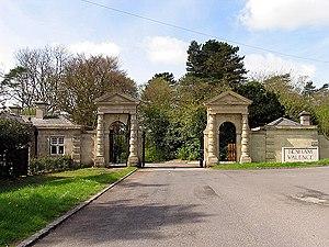 Benham Park - Gates to Benham Valence, originally at Hamstead Marshall