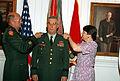 General Gordon R. Sullivan promotes Brigadier General John R. D'Araujo, Jr.jpg