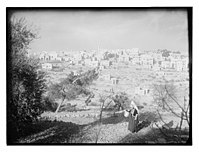 General view of Bethlehem with woman in foreground LOC matpc.11557.jpg