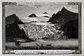 Geology; a large glacier in the Rhone mountains. Engraving b Wellcome V0025134.jpg
