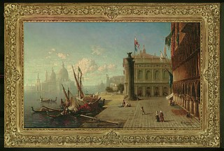 View of the Ducal Palace and Grand Canal and Church of Sta Maria della Salute, Venice