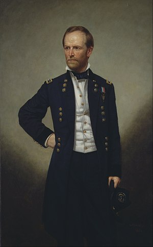 William Tecumseh Sherman - An 1866 painted portrait of Sherman, by George P.A. Healy
