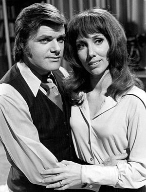 Victoria Wyndham - As Rachel with George Reinholt on Another World, 1973.