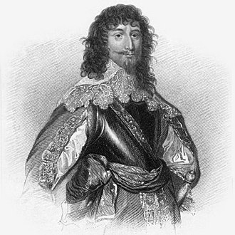 George Gordon, 2nd Marquess of Huntly - An engraved portrait of George Gordon from a painting by Anthony van Dyck