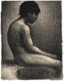 Georges Seurat, Seated Nude, Study for Une Baignade, 1883, Scottish National Gallery.jpg
