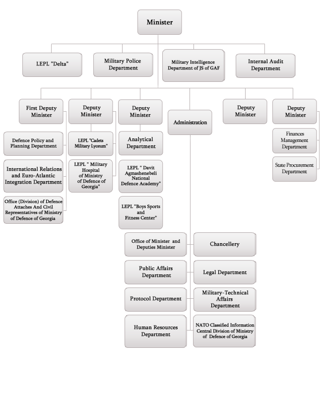 Georgia Ministry of Defense structure (2012)