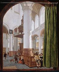 Interior of the Old Church in Delft