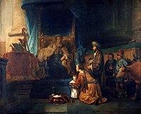 Gerbrand van den Eeckhout - Anna toont haar zoon Samuël aan de priester Eli.jpg