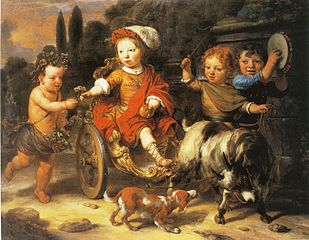 Willem Woutersz Oorthoorn in a Goat-Cart