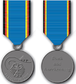 German Flood Service Medal 2002 obverse and reverse.png