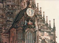 Germany Nürnberg Frauenkirche Seven Electors.jpg