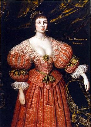 Gilbert Jackson - Gilbert Jackson.  Portrait of Jane Savage, Countess of Winchester, 1632
