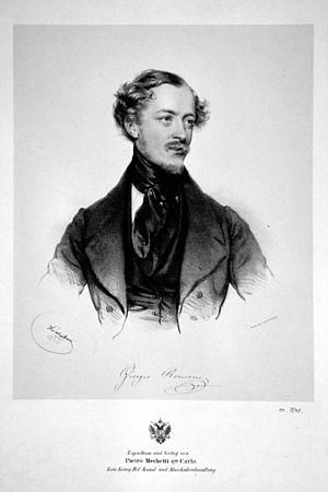 Il furioso all'isola di San Domingo - Giorgio Ronconi Litho by Josef Kriehuber, 1840