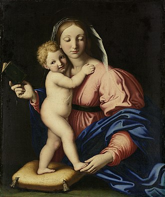 Giovanni Battista Salvi da Sassoferrato - Image: Giovanni Battista Salvi Madonna met kind
