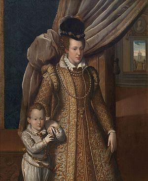 Grand Princes of Tuscany - Image: Giovanni Bizzelli Giovanna d'Austria e suo figlio don Filippino de' Medici 1586