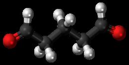 Glutaraldehyde 3D ball.png