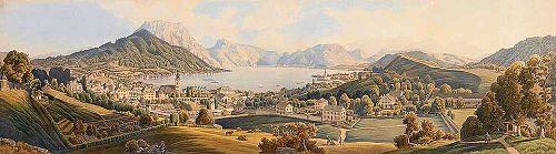 Panorama of Gmunden, XIX century