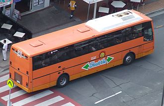 Surfside Buslines - Gold Coast Tourist Shuttle liveried MotorCoach Australia in January 2008