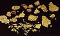 Gold nuggets (placer gold) (Wire Patch Placer Deposit, Farncomb Hill, near Breckenridge, Colorado, USA) 3 (16887542839).jpg