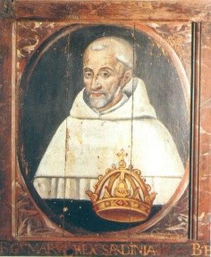 Gonario II of Torres - Image: Gonario II di Torres quadro su legno anonimo sec XVI Nuits St Georges Abbaye Notre Dame de Citeaux