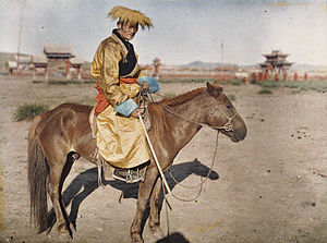 Gonchigjalzangiin Badamdorj - Autochrome of Badamdorj in 1913