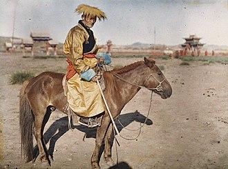 Gonchigjalzangiin Badamdorj - Autochrome of Badamdorj in 1913