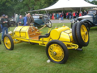 Mercer (automobile) - A fenderless 1912 Mercer 35R Raceabout at the 2007 Goodwood Festival of Speed. Most racing Mercers would have looked like this in period