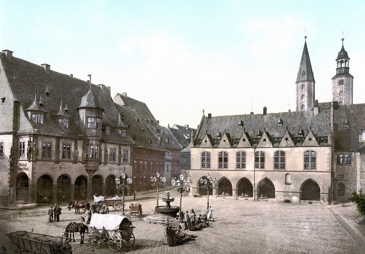 File Goslar Kaiserworth Und Rathaus 1890 1900 Jpg