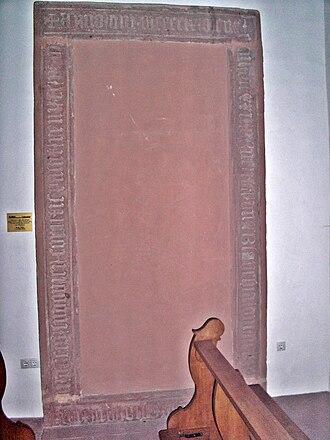 Blanche of England - Blanche's restored tombstone at the church in Neustadt an der Weinstrasse