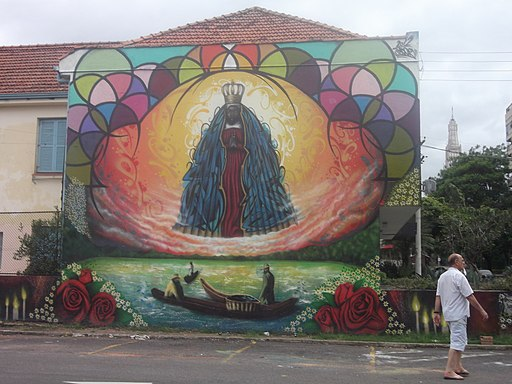 Graffiti N. Sª Aparecida, Bairro Santa Cecília, Porto Alegre, Brasil (2013)