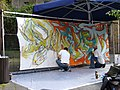 Graffiti artists at the Festival Theatre - geograph.org.uk - 1308518.jpg