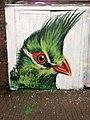 Graffiti in Shoreditch, London - Guinea Turaco by Masai (9425005422).jpg