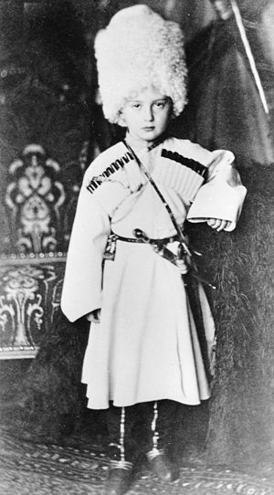 Grand Duke Nicholas Mikhailovich of Russia -  Grand Duke Nicholas Mikhailovich during his childhood, wearing a traditional Georgian chokha