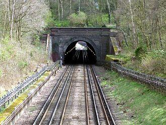 Fairlop Loop - Grange Hill Tunnel looking east towards western portal.