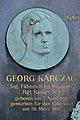 Grave of Wilhelm Karczag - medaillon Georg Karczag.jpg