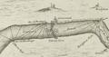 Gravesend defences 1588 Thamesis Descriptio.png