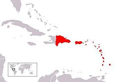 Areas affected by the hurricane (excluding Bermuda)