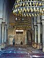 Great Mosque of Kairouan prayer hall with mihrab and minbar.jpg