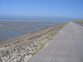 Wadden Sea National Parks - Image: Greetsieler Nacken and Leyhörn Dyke