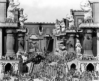 1916 in film - Belshazzar's feast scene from Intolerance