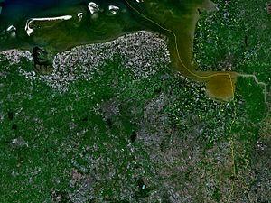 Groningen (province) - Satellite image of Groningen
