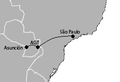 Guarani International Airport destinations.PNG