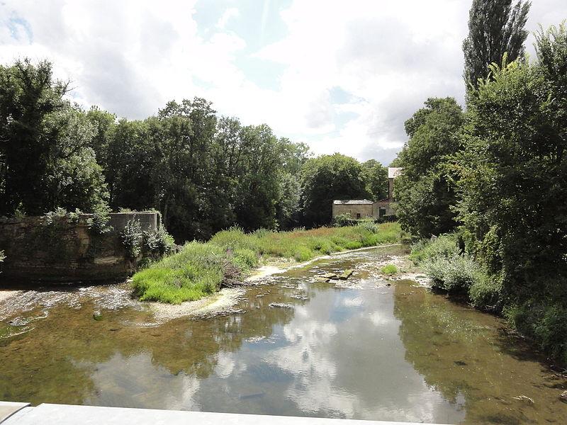 Guerpont (Meuse) l'Ornain avec un moulin