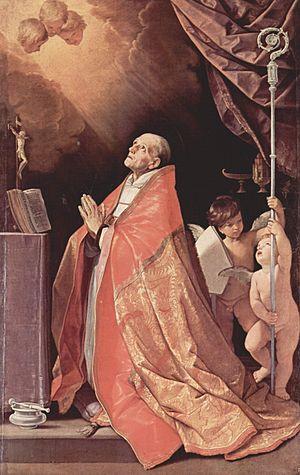 Andrew Corsini - San Andrea Corsini in preghiera - Guido Reni (1630-1635).