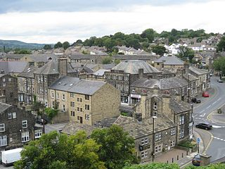 Guiseley Town in West Yorkshire, England