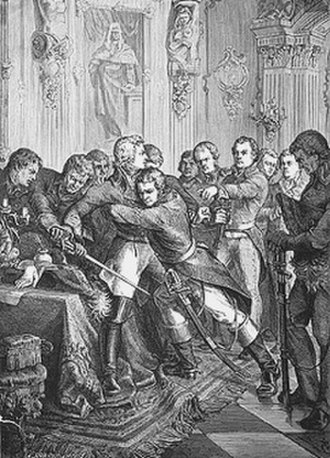 Gustav IV Adolf of Sweden - Gustav IV Adolf's arrest